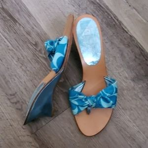 Coach Thong Blue Signature Sandals